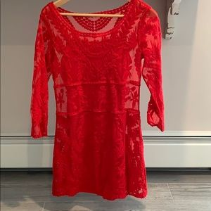 Express Lace overlay dress *worn once!!*